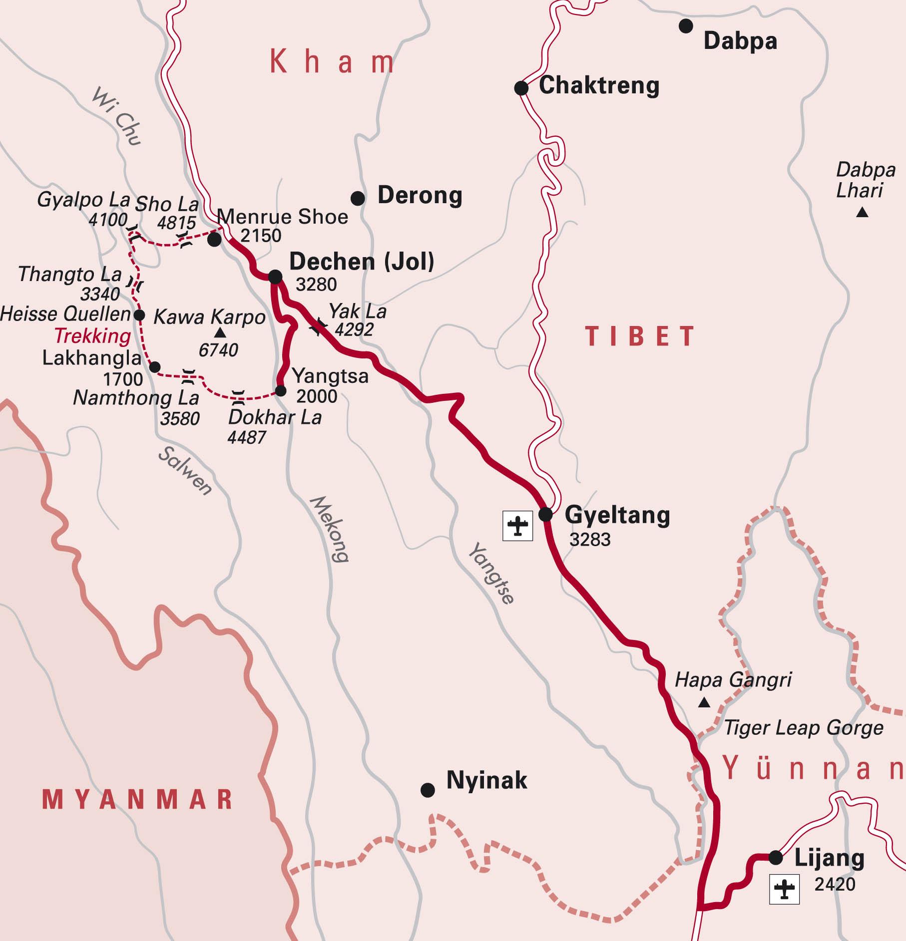Himalaya Berge Karte.Tctt Himalaya Treking Zum Heiligen Berg Mt Kawa Karpo