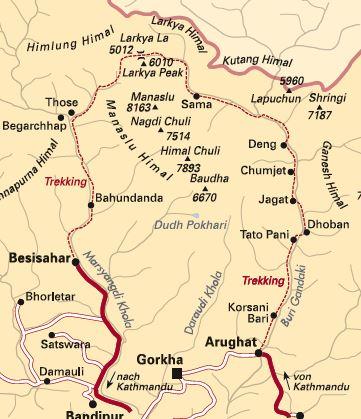 Himalaya Berge Karte.Tctt Himalaya Rund Um Den Manaslu Nepal